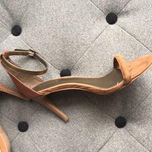 Ann Taylor Loft Leather/Suede Heel 6 1/2M